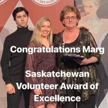 This Lady has given much to our sport! Congratulations Marg! We appreciate all that you do! #volunteerexcellenceaward #skskate