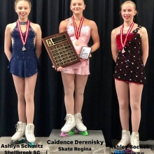 Pre Novice Women 2020 Skate Canada Saskatchewan Sectional Champions presented by Lyle Schill Construction