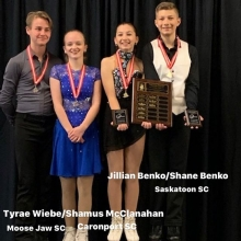 Pre Novice Ice Dance 2020 Skate Canada Saskatchewan Sectional Champions presented by Lyle Schill Construction